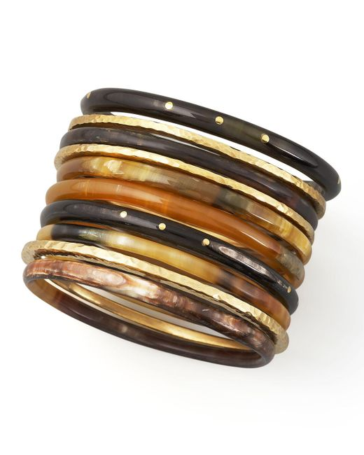 Ashley Pittman | Brown Bamba Bangle Set | Lyst