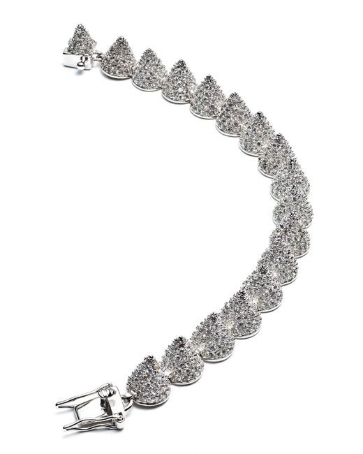 Eddie Borgo | Metallic Small Pave Cone Bracelet | Lyst