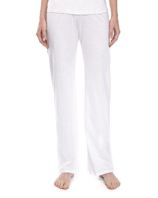 Hanro | White Pima Cotton Drawstring Pants | Lyst