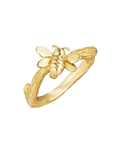 Mimi So - Metallic 18k Gold Bumble Bee Band Ring - Lyst