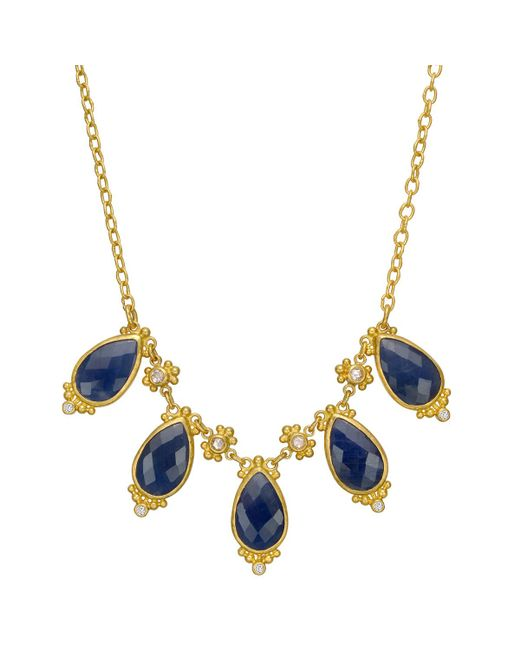 "Gurhan - 22k Yellow Gold & Sapphire ""elements"" Necklace - Lyst"