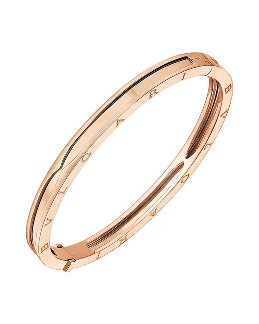 "BVLGARI - 18k Pink Gold ""bzero1"" Bangle Bracelet - Lyst"