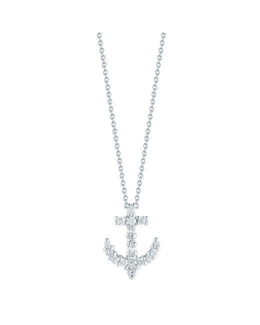"Roberto Coin - Multicolor Diamond ""tiny Treasures"" Anchor Pendant - Lyst"