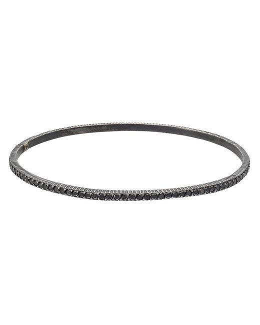 "Yossi Harari - Gilver & Black Diamond ""lilah"" Stack Bangle for Men - Lyst"