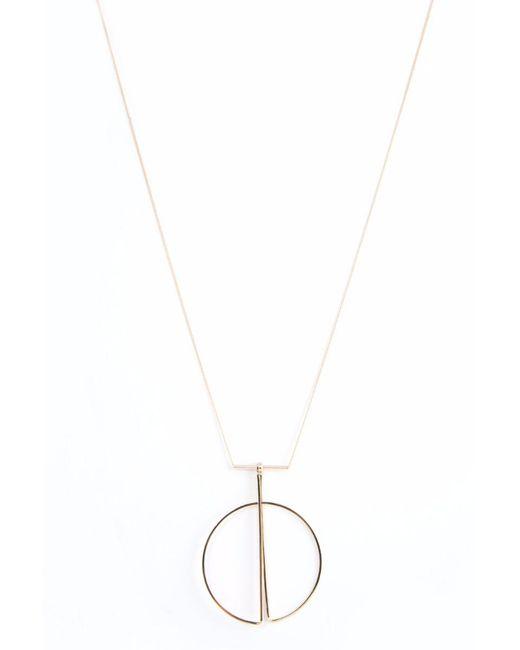 bevello - Metallic Geo Pendant Necklace/ Gold - Lyst