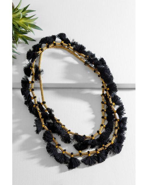 bevello - Black Atlanta Necklace - Lyst