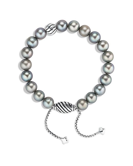 Grey Pearl Beads: David Yurman Spiritual Beads Bracelet With Gray Pearls In