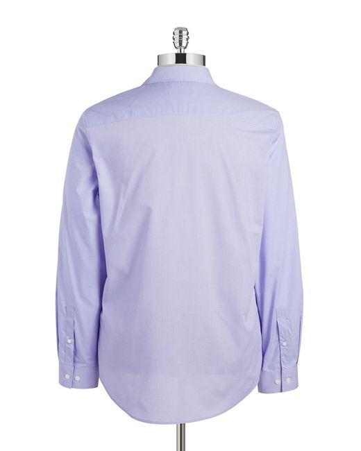 Calvin Klein | Purple Mini-checked Sportshirt for Men | Lyst