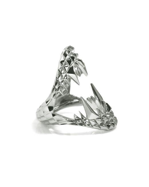 Kasun   Metallic Vampire Bite Ring Silver   Lyst