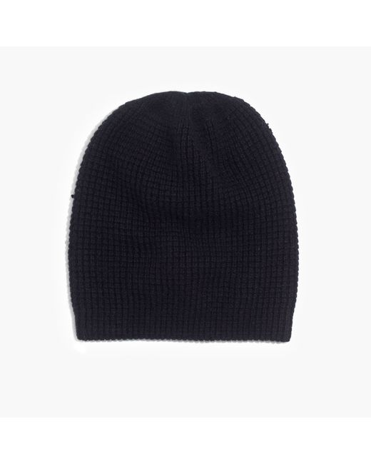 Madewell | Black Cashmere Beanie | Lyst
