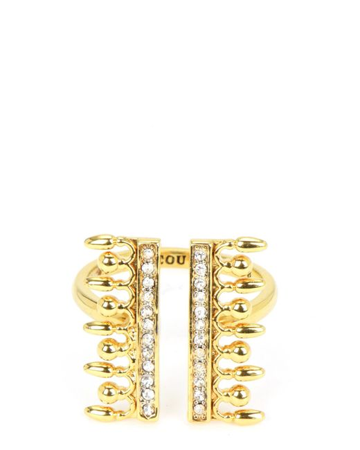 Juicy Couture | Metallic Pearl And Pave Ring | Lyst