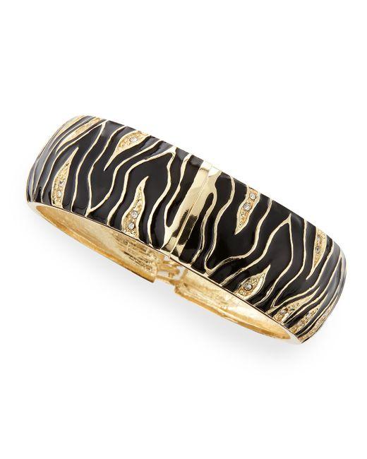 Sequin | Black Wide Zebra Bangle | Lyst