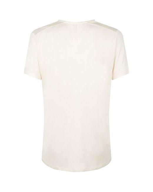 Saint laurent silk v neck t shirt in white lyst for Silk white t shirt