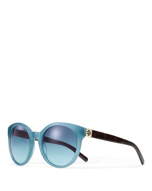 Tory Burch | Blue Vintage Round Sunglasses | Lyst