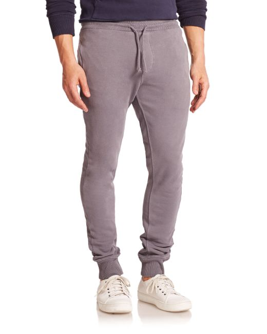 Wahts | Gray Cotton & Cashmere Cuffed Sweatpants for Men | Lyst