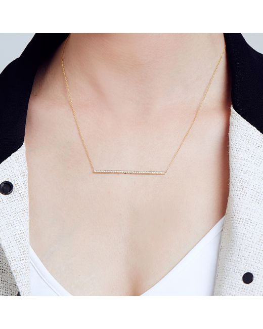 Carbon & Hyde | Pink Sidebar Necklace | Lyst