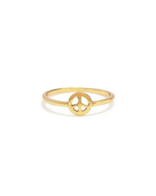 Bing Bang - Metallic Little Peace Ring - Lyst
