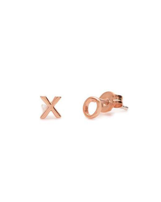 Bing Bang - Pink Tiny 'xo' Studs - Lyst