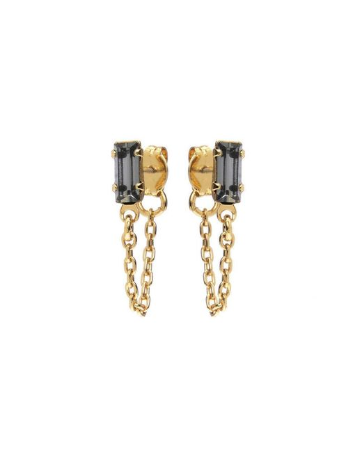 Bing Bang - Yellow Baguette Continuous Earrings - Lyst