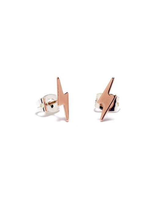 Bing Bang | Pink Lightning Bolt Studs | Lyst