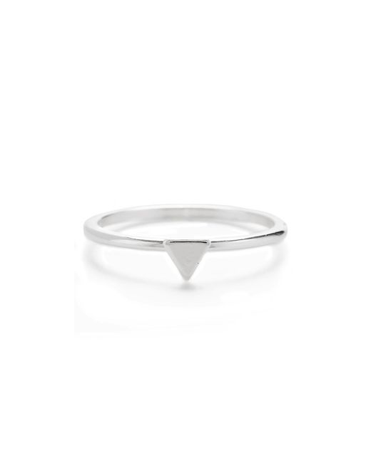 Bing Bang | Metallic Tiny Triangle Ring | Lyst
