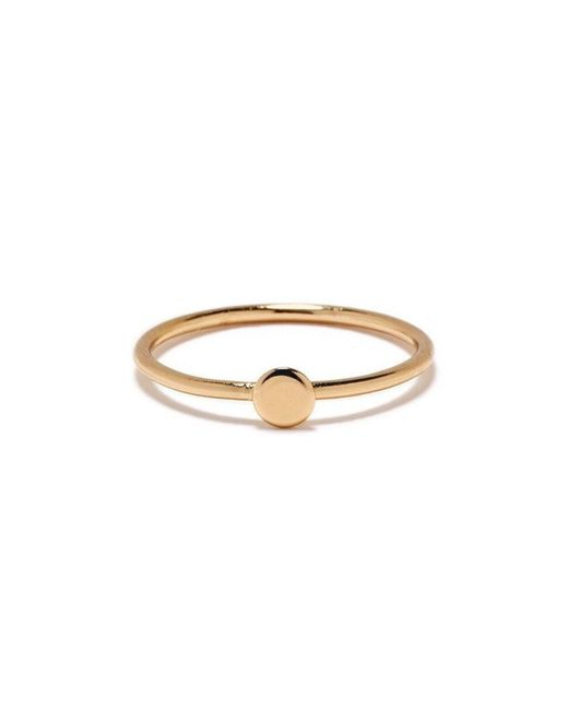 Bing Bang | Yellow Tiny Circle Ring | Lyst