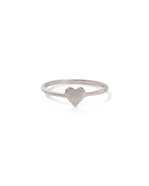 Bing Bang   Metallic Heart Ring   Lyst