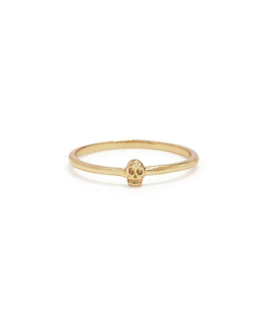 Bing Bang | Yellow Tiny Skull Ring | Lyst