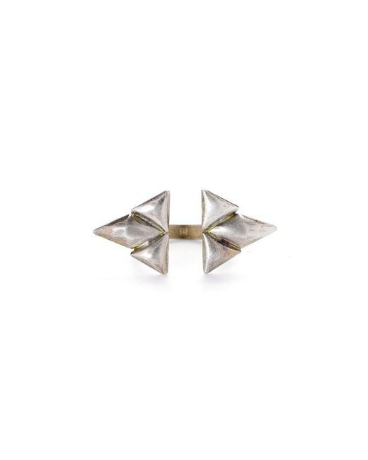 Bing Bang | Metallic Double Trident Ring | Lyst