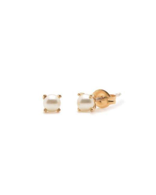 Bing Bang - Yellow Tiny Pearl Studs - Lyst