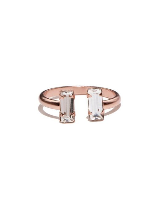 Bing Bang - Pink Double Baguette Ring - Lyst
