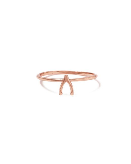Bing Bang - Pink Wishbone Ring - Lyst