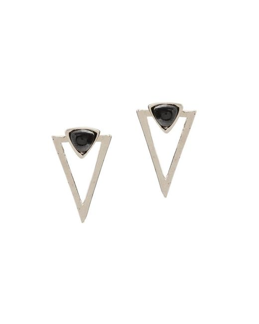 Bing Bang | Metallic New Moon Studs | Lyst