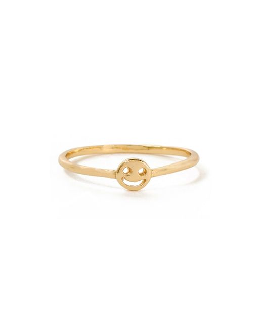Bing Bang | Yellow Smiley Face Ring | Lyst