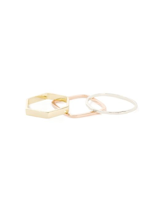 Bing Bang | Metallic Geometric Ring Set | Lyst