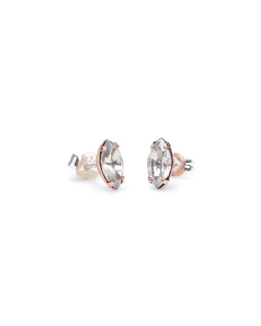 Bing Bang | Pink Tiny Marquis Studs | Lyst