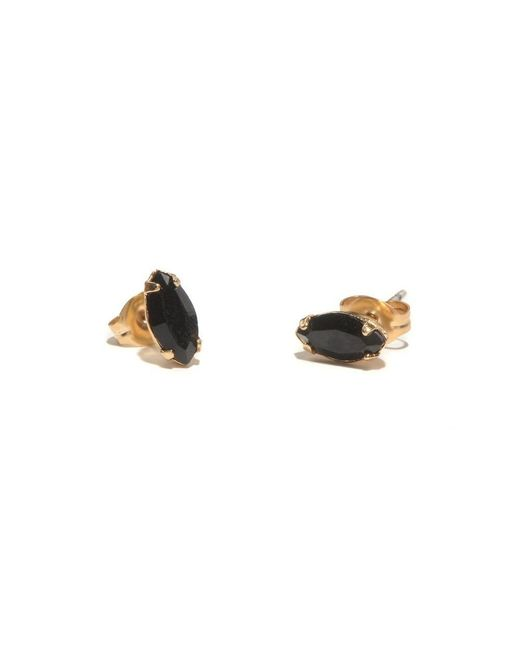 Bing Bang | Yellow Tiny Marquis Studs | Lyst