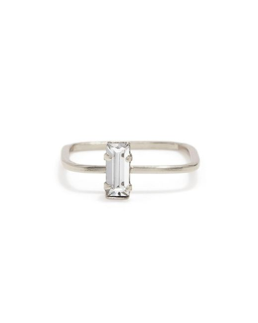 Bing Bang | Metallic Balancing Baguette Ring | Lyst