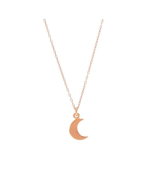 Bing Bang | Metallic Little Moon Necklace | Lyst