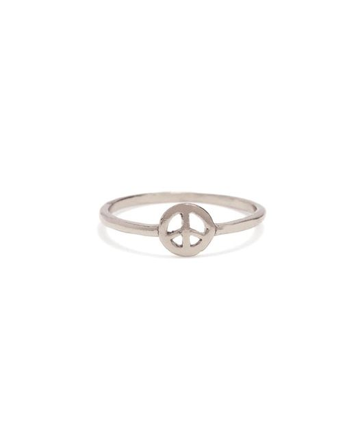 Bing Bang - Metallic Little Peace Ring - Lyst