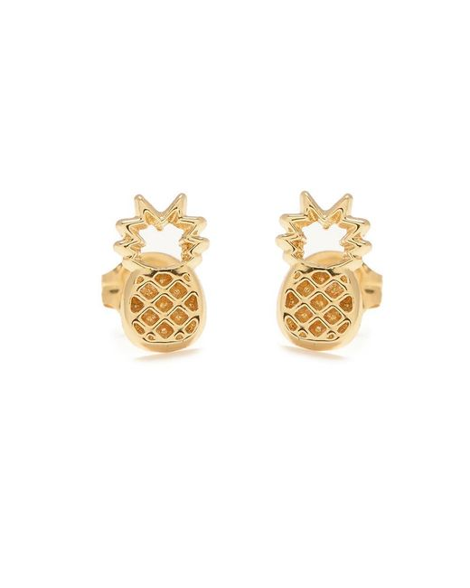 Bing Bang | Metallic Pineapple Studs | Lyst