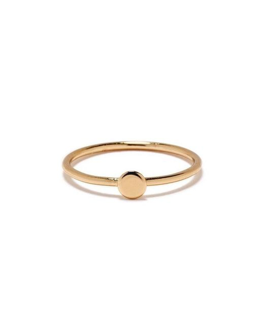 Bing Bang - Yellow Tiny Circle Ring - Lyst