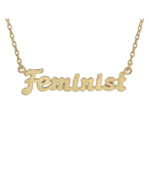 Bing Bang - Metallic Feminist Necklace (bb X Me & You) - Lyst