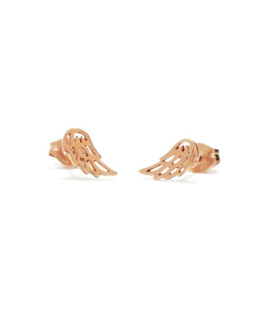 Bing Bang - Metallic Little Wing Studs - Lyst