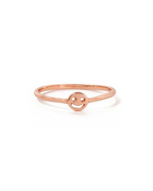 Bing Bang - Pink Smiley Face Ring - Lyst