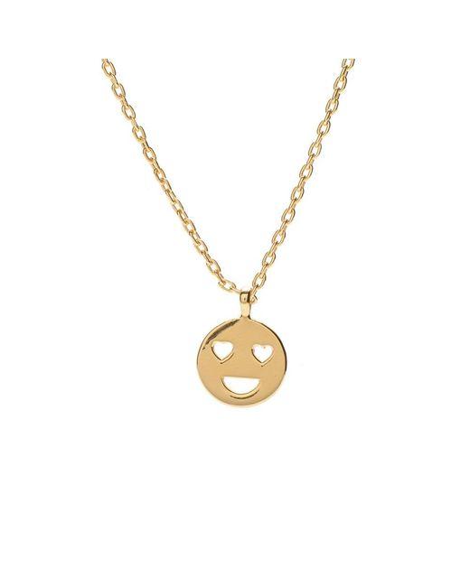 Bing Bang | Metallic Heart Eyes Necklaces | Lyst