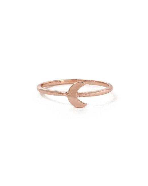 Bing Bang - Pink Little Moon Ring - Lyst