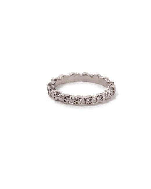 Bing Bang   Metallic Eternity Skull Ring   Lyst