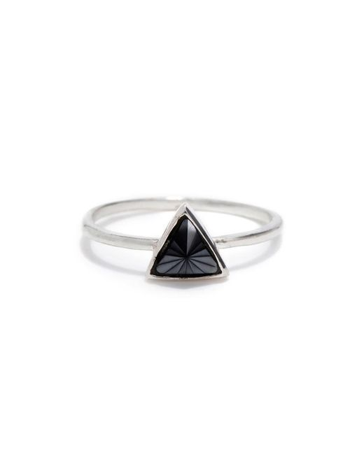 Bing Bang - Metallic Delta Bezel Ring - Lyst