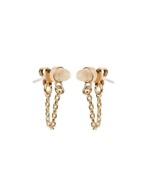 Bing Bang - Metallic Gemstone Continuous Earrings - Lyst